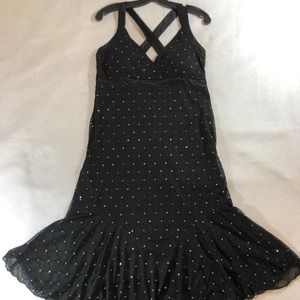 Rhinestone Embellished Black Strapy Dress size 12